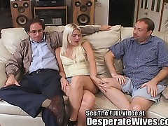 Thin Golden-haired Wife Pimped Out by Hubby