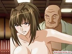 Busty hentai honey acquires drilled hard