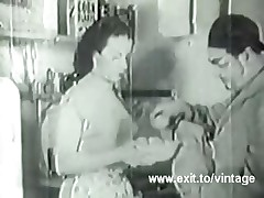 1936 Vintage with unshaved amateur Housewife