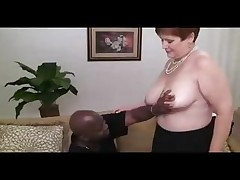 Chubby dilettante redhead granny visits the casting couch and shows her large natural tits