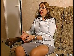 French mama acquires anal drilled