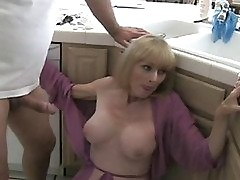 Taboo 1st encounter and Mama discovered my porn