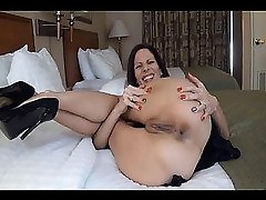 Perverted mom fondling her love holes
