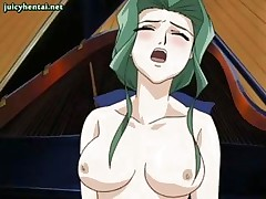 Anime babe gets anal sex on piano