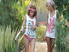 Ultra carnal sapphic licking in garden