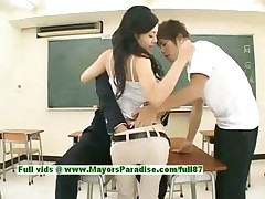 Sora Aoi virginal sexy japanese student is getting drilled in the classroom