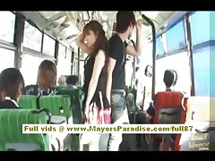 Mihiro Chinese model enjoys a banging on the bus
