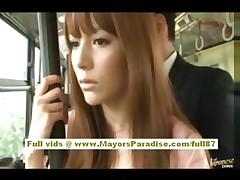 Rio asian juvenile babe getting her hairy pussy fondled on the bus