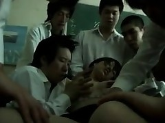 Japanese Teacher In A Gang Group sex With Students