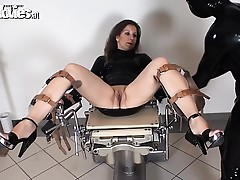 Milf slave can't live without to acquire locked in a gyno chair