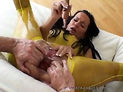Extraordinary mature latex amateur wife extreme anal double fisting and a-hole prolapse fetish