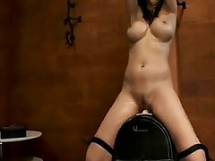The Sybian Makes This Cutie Squirt