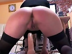 Fat Booty Riding On Some Long Sextoy