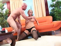 Hot model handjob ejaculation