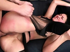 Wicked Raven Haired Spanked and arse Fucked