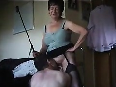 Dominating Granny Craves Him To Take up with the tongue Her Wet crack