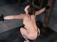 Sadistic sub getting spanked red raw