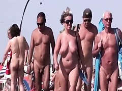 Naked French People At The Beach For A Tan
