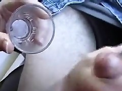 Handjob And Swallowing Cum In The Car