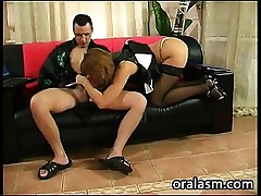 Mature Russian Banging On The Couch