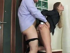 Office act sexy cougar gets drilled by one more employee