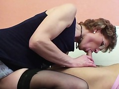 Mamma with flawless body desire to fuck german step-son !