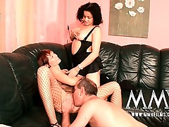 German sex teacher Gina helping out a couple
