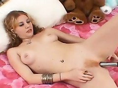 Unshaved And Lascivious Redhead With Her Vibrator