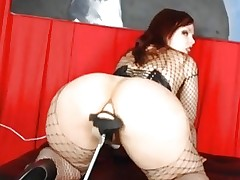 Fishnet Playgirl Fucked By Sex-toy Fuc...