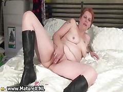 Breasty mature  stripping