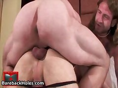 Extraordinary gay bareback pumping and cock