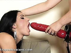 Gorgeous brunette Ionella fucked hard with a ding-dong
