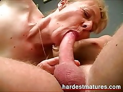 Lusty granny gets it hard