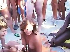 Fucking In Public At The Beach