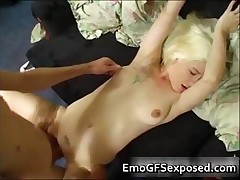 Old papy pumping   tattooed wife